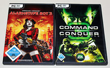 2 PC SPIELE BUNDLE - COMMAND & CONQUER - ALARMSTUFE ROT 3 & TIBERIUM WARS - KANE