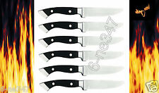 Longhorn Steakhouse Steak Knives 6 Knife Set BBQ Kitchen Dining Chop Camping New