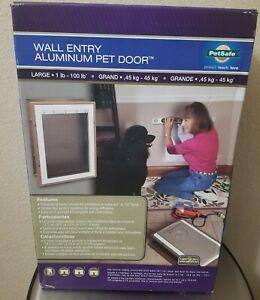 Brand New! PetSafe Wall Entry ALUMINUM PET DOOR (Large 1-100lbs)