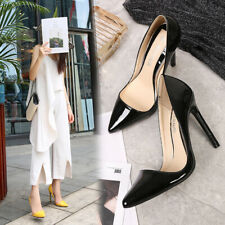 Trans Shoes Men's High Heels Crossdresser Pumps Drag Queen Black Patent Leather