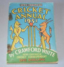 Old news CHRONICLE Cricket Annuale per 1951-CRAWFORD bianco.