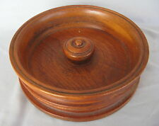 VINTAGE HAND MADE TURNED WOOD NUT CANDY BOWL