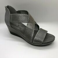 Anne Klein Women's Pebbles Wedge Sandal Pewter Size 7.5