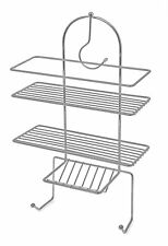 3 Tier Chrome Bathroom Shower Caddy Hanging Hook Organiser Rack Tidy Basket