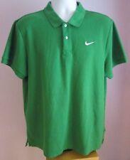 VTG Mens NIKE Green Collared Shortsleeve Polo Shirt Size Large (T14)