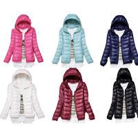 New women  ultra light down hoodie down jacket packable puffer jacket coat
