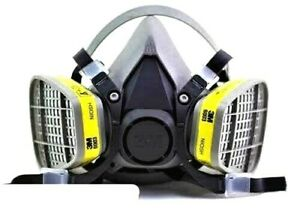 3M 6300 Half Face Respirator W/ 3M 6003 Organic Vapor/Acid Gas Cartridge LARGE