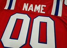 #00 New England Patriots Football Jersey Name&Number -SEWN-ON.3X,4XL,5XL,6XL7X