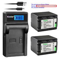 Kastar Battery LCD USB Charger for Panasonic VW-VBK360 & HDC-SD90GK HDC-SD60S