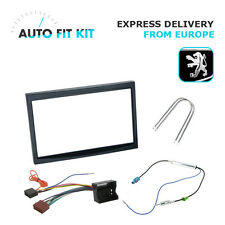 Peugeot 207 307 2 Din Double DIN Fascia Radio Stereo Replacement Kit Fakra
