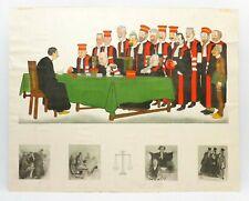 19TH C S LUCAS & HONORÉ DAUMIER /FRANCE COLOR LITHO & 4 ETCHINGS 'LAW & JUSTICE'