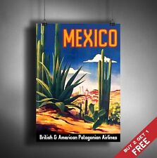 A3 Large MEXICO POSTER Vintage Retro Travel Wall Art Home Decor DESERT Picture