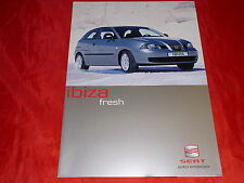 "SEAT Ibiza ""Fresh"" Sondermodell Prospekt von 2003"