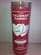 TALISMAN LOVE DRAWING 7 DAY UNSCENTED PINK CANDLE IN GLASS