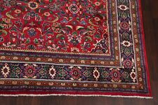 Red/Navy Floral Oriental Mahal Area Rug Hand-Knotted Decorative Carpet 10'x12'