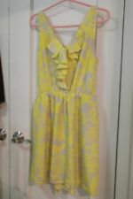 Dress EXPRESS Women  YELLOW & BEIGE  Size LARGE sleeveless