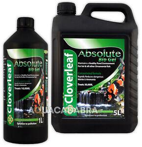 Cloverleaf Absoloute Bio Gel 1L Fish Pond Filter Start Reduce Ammonia/Nitrate