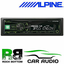 Alpine 4x50W Radio Mechless Deckless iPod iPhone Car Stereo USB GREEN Display