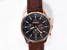 Meister Anker Men's Genuine Leather Watch Stainless Steel Back 96368/4 >NEW<