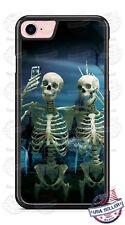 Halloween Funny Skeletons Bestie BFF Phone Case for iPhone Samsung Google etc
