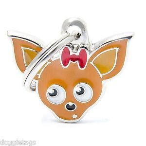 Chihuahua - Dog ID Tag  (23) - Engraved FREE - Personalised Identity - Keyring
