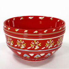Anthropologie ORKNEY RED 24oz Soup Cereal Bowl Snowflake Nordic Scotland