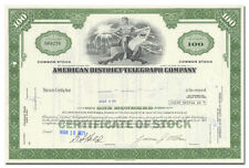 American District Telegraph Company (Adt) Stock Certificate