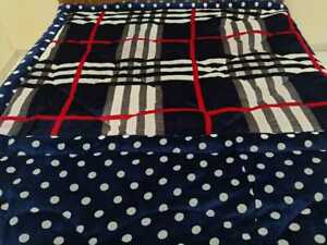 Double Bed Fiber Filled Soft Quilt Reversible Microfiber Heavy Stuff Two Sided