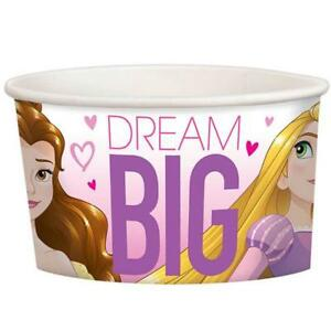 Disney Princess Dream Big Snack Ice Cream Cups 8 Count Birthday Party Supplies