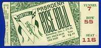 1944 Rose Bowl football ticket stub USC Trojans v Washington Huskies RARE!