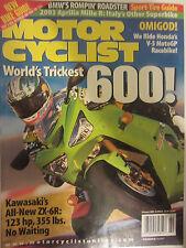 Motorcyclist Magazine February 2003 Kawasaki's All New ZX-6R Honda V-5 MotoGP
