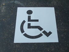"Handi-Cap Parking Lot Stencil (1) Piece 48"" ReUsable Huge Edges Flexible"