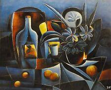 Jean-Francois - Expressionismus Gemälde 2002:Titel:  LA NATURE MOITE-(?) EN BLUE