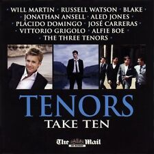 TENORS TAKE TEN - UK PROMO CD: BLAKE, RUSSELL WATSON, ANSELL, CARRERAS, DOMINGO
