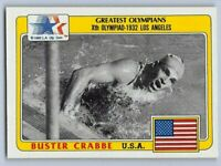 1983  BUSTER CRABBE - Topps GREATEST OLYMPIANS Card # 99 - SWIMMING