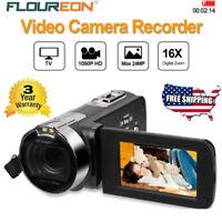 1080P HD 16x Zoom Camcorder Digital Video Camera TFT LCD 24MP DV AV Night Light