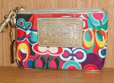 COACH Signature POPPY Graffiti Jacquard/Leather Trimmed Wristlet -  .99 NR