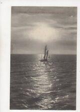 Granville Effet de Contre Jour Sur La Mer France Vintage Postcard 311b