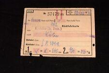 DB Rückfahrkarte 1974 - Neufahrn - Köln - 06.03.74 - DB/Mü