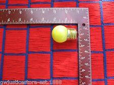 BOX of 25 } CERAMIC bug YELLOW S11 sign & night LIGHT BULB 7 & 1/2 WATT 7.5s11