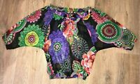 Desigual ladies womens Style 61B23G6 multicolor light shirt top blouse size S