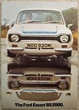 FORD ESCORT RS 2000 Car Sales Brochure c1973-74 #FP300