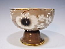 """Hand-painted Footed Ice Cream Bowl Made in Portugal - 3"""" tall & 4"""" across"""