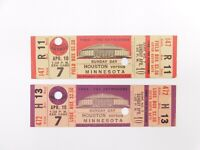 Lot Of 2 1966 TICKET 4/10/1966 ASTROS Astrodome