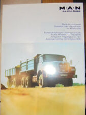 Prospekt Sales Brochure MAN M.A.N 26.240 DHAK Muldenkipper Technische Daten LKW