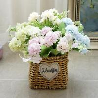 5 Head Artificial Silk Flowers Hydrangea Beckoning Wedding Bride Party Decor