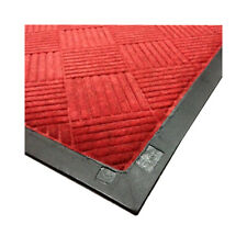 Entrance Floor Mat 3 Feet Wide, Diamond Pattern Red Size 10 Feet Long