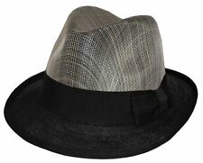 MLN Linen Youth Size Fedora 8~20 S/M 57~58cm Gray Black