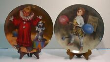 Tommy The Clown and Johnny The Strong Man > Set Of 2 Plates >John McClelland