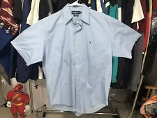 Vintage Polo Ralph Lauren Button Up Shirt Mens Large Medium 90s baby Blue